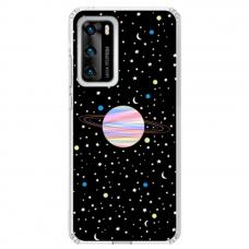 "Huawei P40 Pro TPU dėklas unikaliu dizainu 1.0 mm ""u-case Airskin Planet design"""
