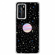 "Huawei P Smart 2021 TPU dėklas unikaliu dizainu 1.0 mm ""u-case Airskin Planet design"""