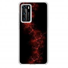"Huawei P40 TPU dėklas unikaliu dizainu 1.0 mm ""u-case Airskin Space 3 design"""