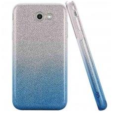 huawei p8 lite dėklas glitter silikonas sidabrinis-žydras