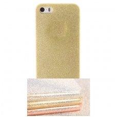 huawei p8 lite dėklas glitter silikonas auksinis