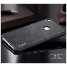 Huawei P8 / P9 lite 2017 dėklas X-LEVEL VINTAGE eko oda juodas