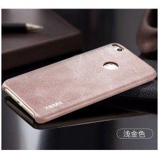 AKCIJA! Huawei P8 / P9 lite 2017 dėklas X-LEVEL VINTAGE eko oda SMĖLINIS
