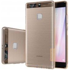 Huawei P9 dėklas Nillkin Nature TPU 0,6mm aukso atspalvio permatomas