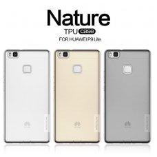 Huawei p9 lite dėklas Nillkin Nature permatomas pilkas 0,6 mm TPU