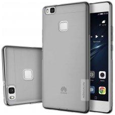 Akcija! Huawei p9 lite dėklas Nillkin Nature permatomas pilkas 0,6 mm TPU
