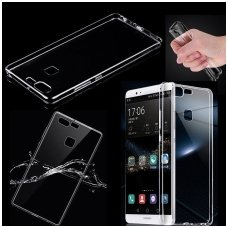 Huawei P9 lite dėklas Skaidrus 0,3mm SILIKONINIS