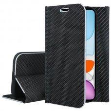 Iphone 11 pro atverčiamas dėklas Vennus Carbon juodas