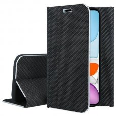 Iphone 11 atverčiamas dėklas Vennus Carbon juodas