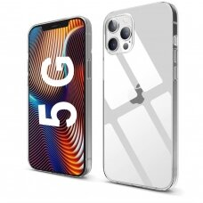 Iphone 12 pro max dėklas 3MK Clear TPU 1,2mm permatomas