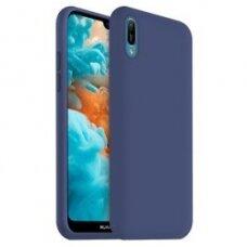 Akcija! Huawei Y6 2019 dėklas MERCURY JELLY SOFT silikoninis tamsiai mėlynas