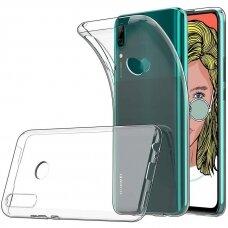 Akcija ! Huawei p smart z Ultra slim permatomas skaidrus dėklas 0.3 mm silikonas