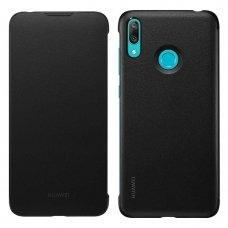 Huawei Y7 2019 originalus atverčiamas dėklas Huawei Wallet Cover juodas