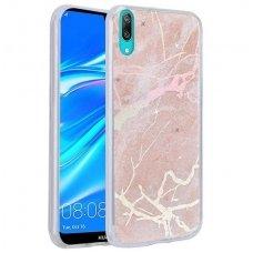 huawei y7 2019 / y7 prime 2019 dėklas Marmur silikonas rožinis