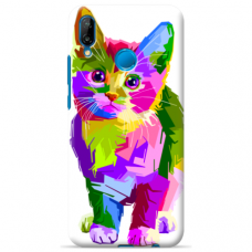 "Huawi P Smart 2019 TPU dėklas unikaliu dizainu 1.0 mm ""u-case Airskin Kitty design"""