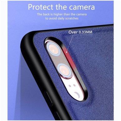 """Iphone XR dėklas x-level """"Exquisite"""" TPU IR VELIŪRAS raudonas 4"""