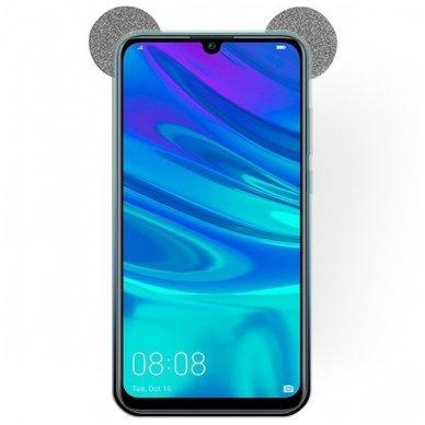 Huawei P smart 2019 dėklas Bling Mouse silikonas sidabrinis-juodas 2