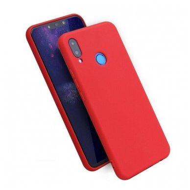 huawei p smart 2019 DĖKLAS Silicone cover raudonas
