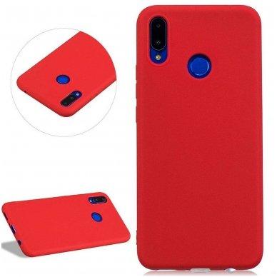 huawei p smart 2019 DĖKLAS Silicone cover raudonas 2
