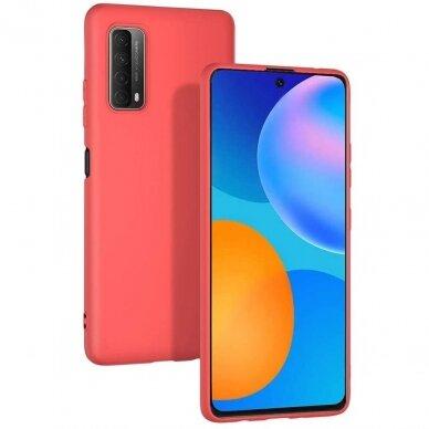 Akcija! Huawei P Smart 2021 dėklas FOSCA CASE silikonas raudonas