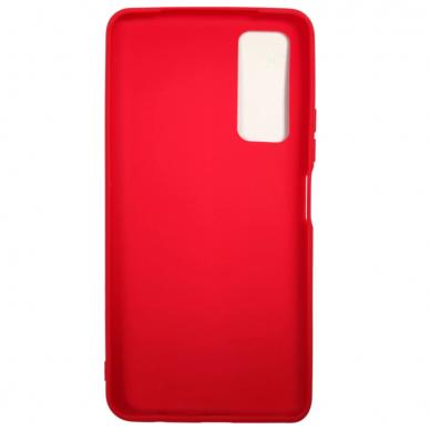 Akcija! Huawei P Smart 2021 dėklas FOSCA CASE silikonas raudonas  2