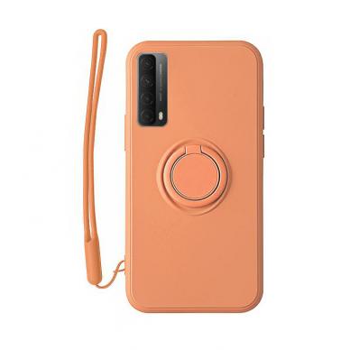 Huawei P Smart 2021 dėklas su magnetu Pastel Ring oranžinis