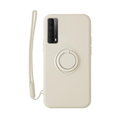 Huawei P Smart 2021 dėklas su magnetu Pastel Ring baltas
