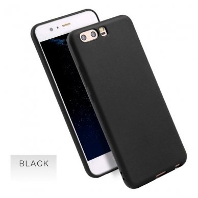 Huawei P10 dėklas CANDY 0.3MM silikonas juodas