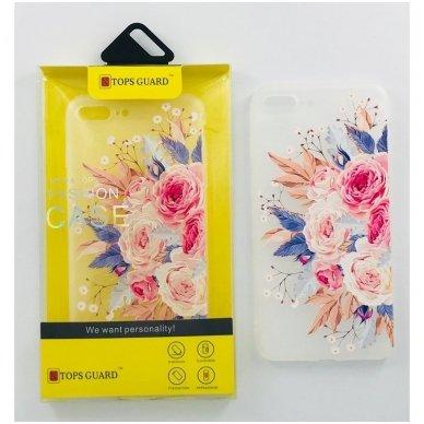 """Huawei P10 dėklas Vennus """"Flower 4"""" silkonas"""