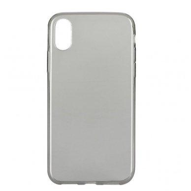 Huawei P20 ultra slim dėklas skaidrus 0.3mm silikonas pilkas