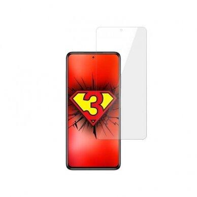 Akcija! xiaomi poco m3 ekrano apsauginė plėvelė 3MK Flexible Glass skaidri