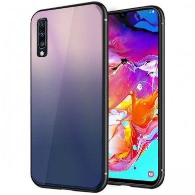 "Samsung a70 Dėklas ""Aurora""  rudas-juodas"