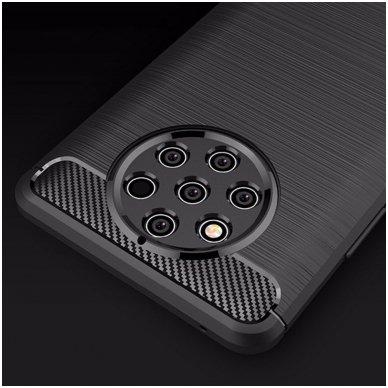 Nokia 9 pureview dėklas carbon lux silikonas juodas   2