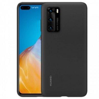 Akcija! Huawei p40 originali silikoninė nugarėlė Silicone Case juoda