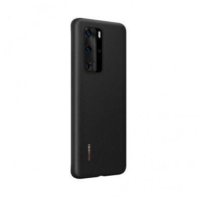 Akcija! Huawei p40 originali silikoninė nugarėlė Silicone Case juoda 3
