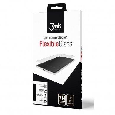 Akcija! xiaomi poco m3 ekrano apsauginė plėvelė 3MK Flexible Glass skaidri 3