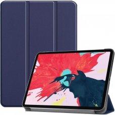 """iPad Pro 11 2020 atverčiamas dėklas """"Smart Leather"""" eko oda mėlynas"""
