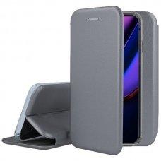 iphone 11 pro atverčiamas dėklas Book elegance pilkas