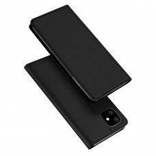 Iphone 11 pro atverčiamas dėklas DUX DUCIS dėklai Skin Pro juodas eko oda