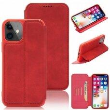 iphone 11 pro atverčiamas dėklas SMART VINTAGE raudonas