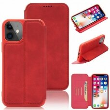 iphone 11 atverčiamas dėklas SMART VINTAGE raudonas