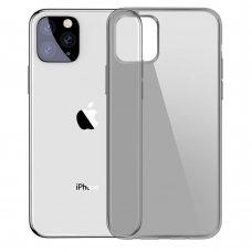 Iphone 11 dėklas Baseus Simple TPU skaidrus juodas