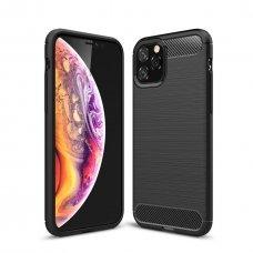 Iphone 11 dėklas carbon lux silikonas juodas