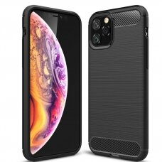 Iphone 12 mini  dėklas carbon lux silikonas juodas