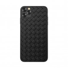 Iphone 11 pro max dėklas Devia Woven 2 silikonas juodas
