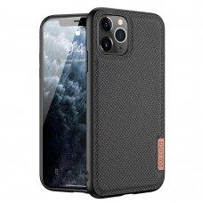 iphone 12 pro max dėklas Dux ducis Fino dengtas austu nailonu juodas