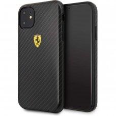 Akcija! iphone 11 pro dėklas FERRARI plastikas juodas
