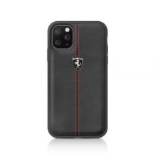 iphone 11 dėklas FERRARI 2 odinis juodas