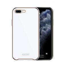 Iphone SE 2020 dėklas Glass Case stiklas+tpu baltas