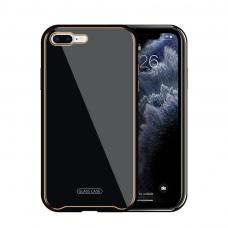 Iphone 8 dėklas Glass Case stiklas+tpu juodas